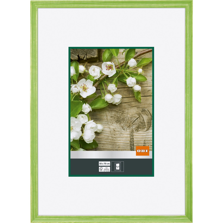 OBI Holz-Bilderrahmen Grün 50 cm x 70 cm kaufen bei OBI