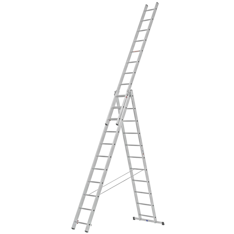 Alpe  Allzweck-Leiter 3 x 11 Sprossen Arbeitshöhe 7,22 m