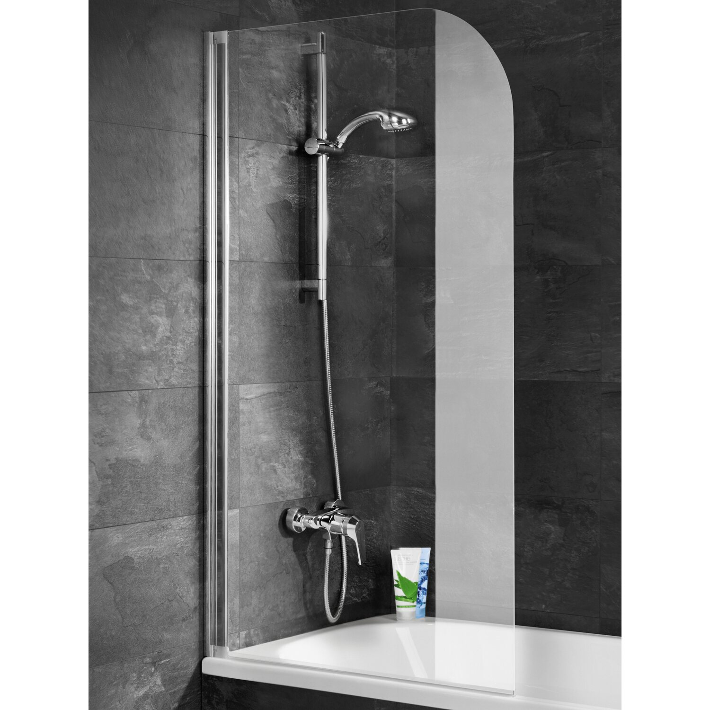 Schulte badewannenaufsatz chrom echtglas klar hell 80 x 140 cm kaufen bei obi - Duschwand badewanne obi ...