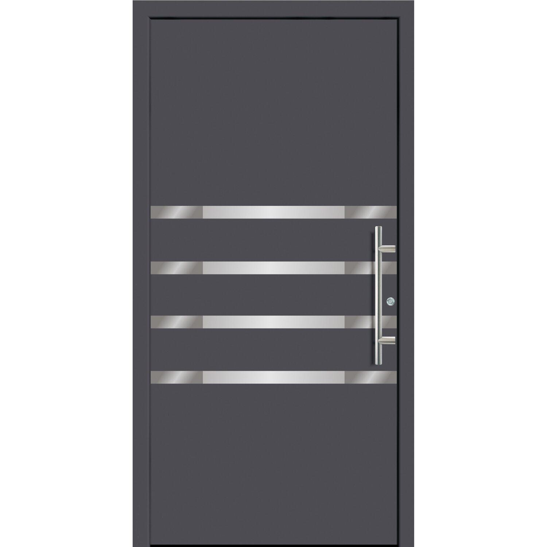 Haustür Anthrazit aluminium haustür 110 cm x 210 cm fü55210 anthrazit anschlag links