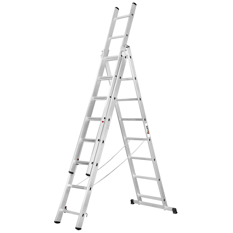 alpe allzweck-leiter 3 x 12 sprossen arbeitshöhe 8,15 m kaufen bei obi
