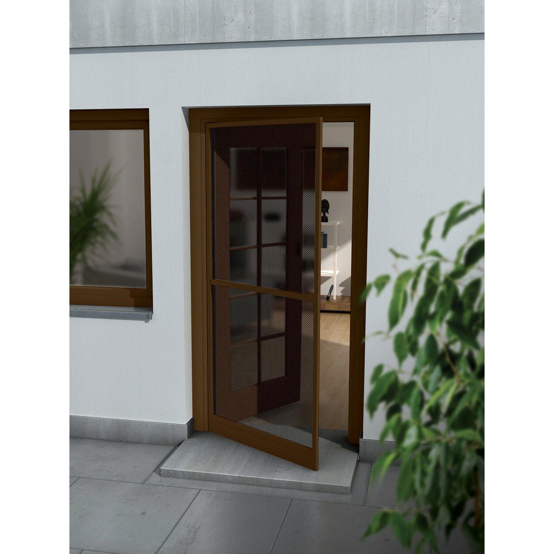 OBI Alurahmen Tür 100 cm x 215 cm Braun | Baumarkt > Modernisieren und Baün > Fenster | Braun | OBI