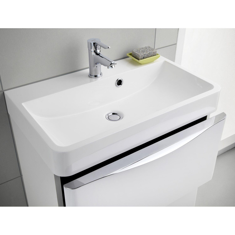 scanbad badm bel set 60 cm mit spiegelschrank samba wei hochglanz 3 teilig kaufen bei obi. Black Bedroom Furniture Sets. Home Design Ideas