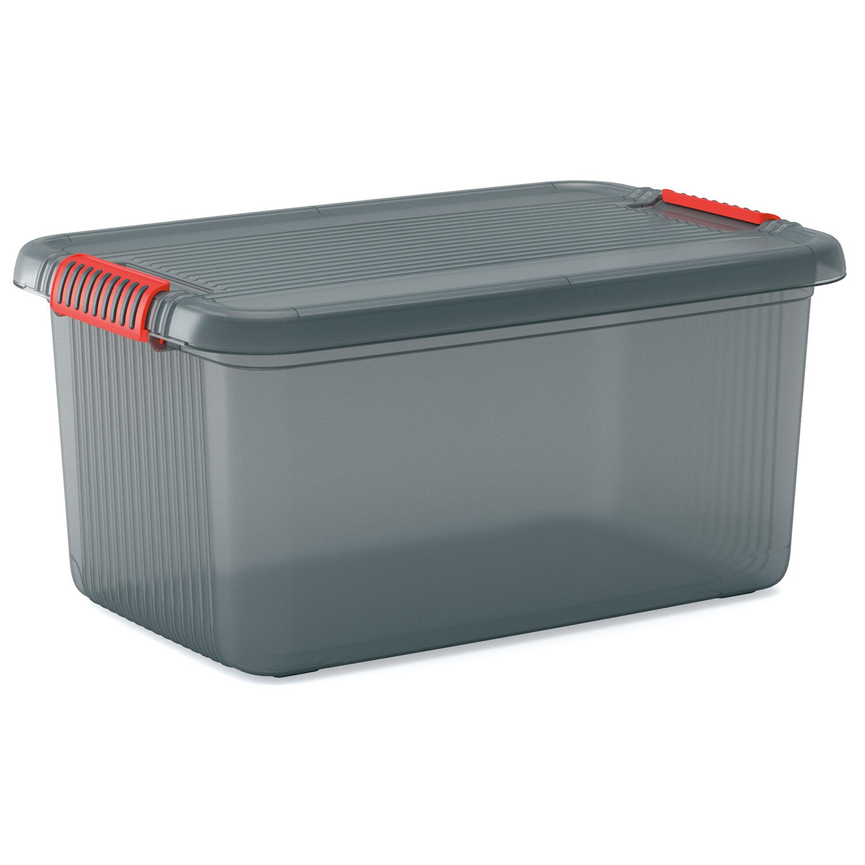 Clipbox mit deckel rauchgrau 43 l kaufen bei obi - Kis contenitori ...