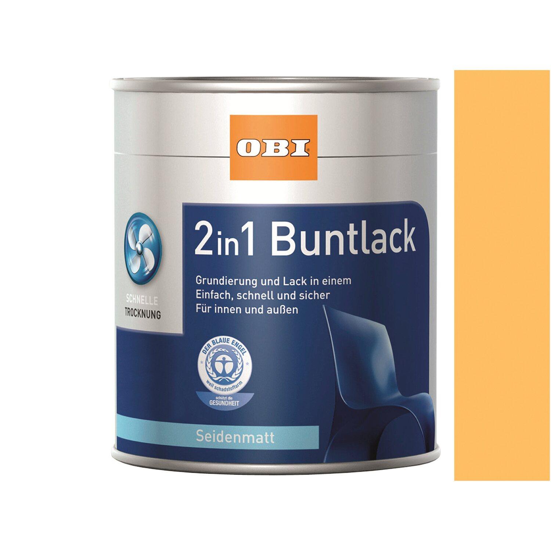 OBI  2in1 Buntlack Safrangelb seidenmatt 750 ml