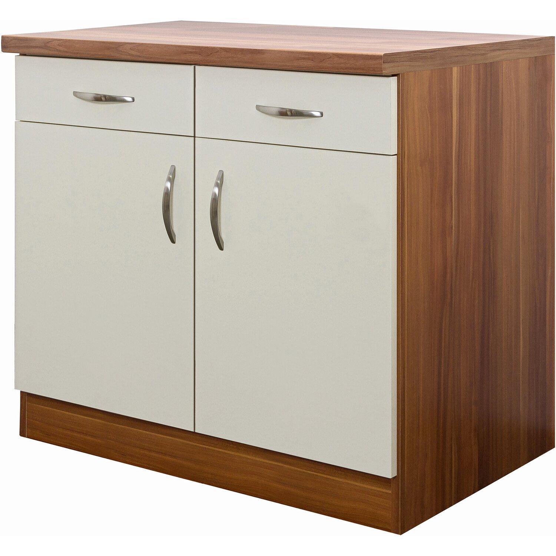 flex well exclusiv unterschrank sienna 100 cm creme zwetschge nachbildung kaufen bei obi. Black Bedroom Furniture Sets. Home Design Ideas