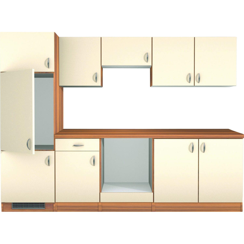 flex well exclusiv k chenzeile sienna 270 cm ohne e ger te creme zwetschge kaufen bei obi. Black Bedroom Furniture Sets. Home Design Ideas