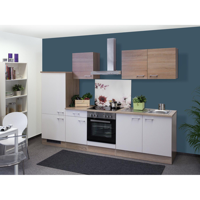 flex well classic k chenzeile florida 270 cm sonoma eiche wei sonoma eiche kaufen bei obi. Black Bedroom Furniture Sets. Home Design Ideas