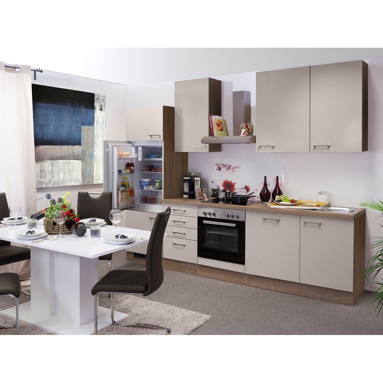 Flex-Well Exclusiv Küchenzeile Orlando 280 cm Kaschmir Glanz ...