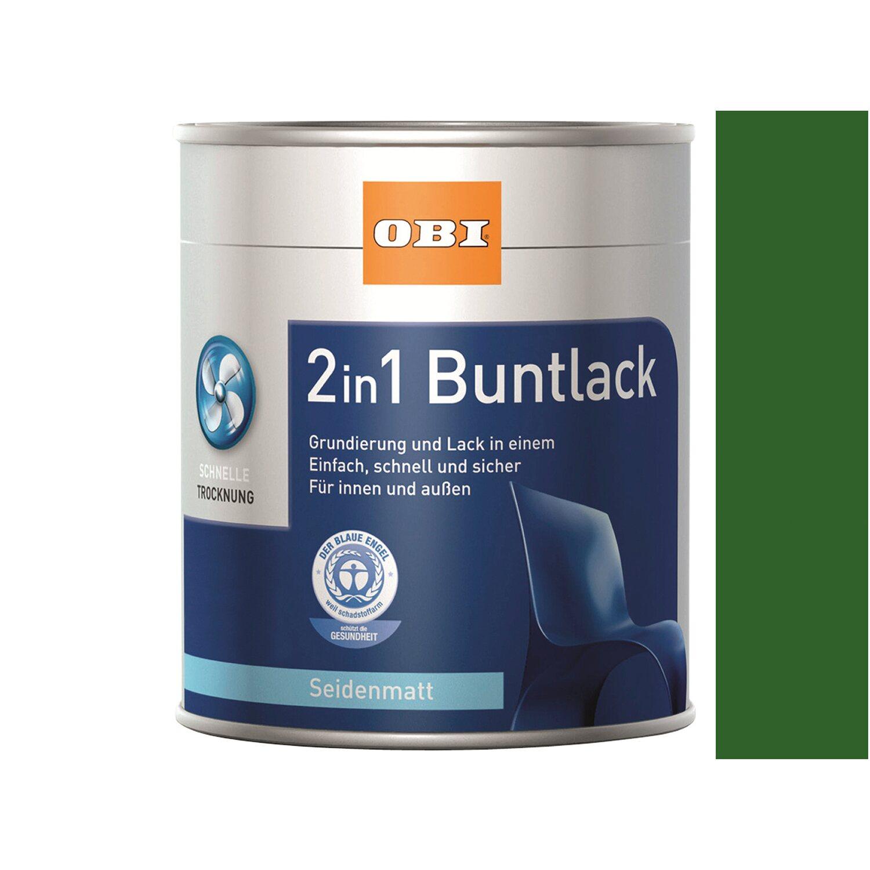 OBI  2in1 Buntlack Laubgrün seidenmatt 125 ml