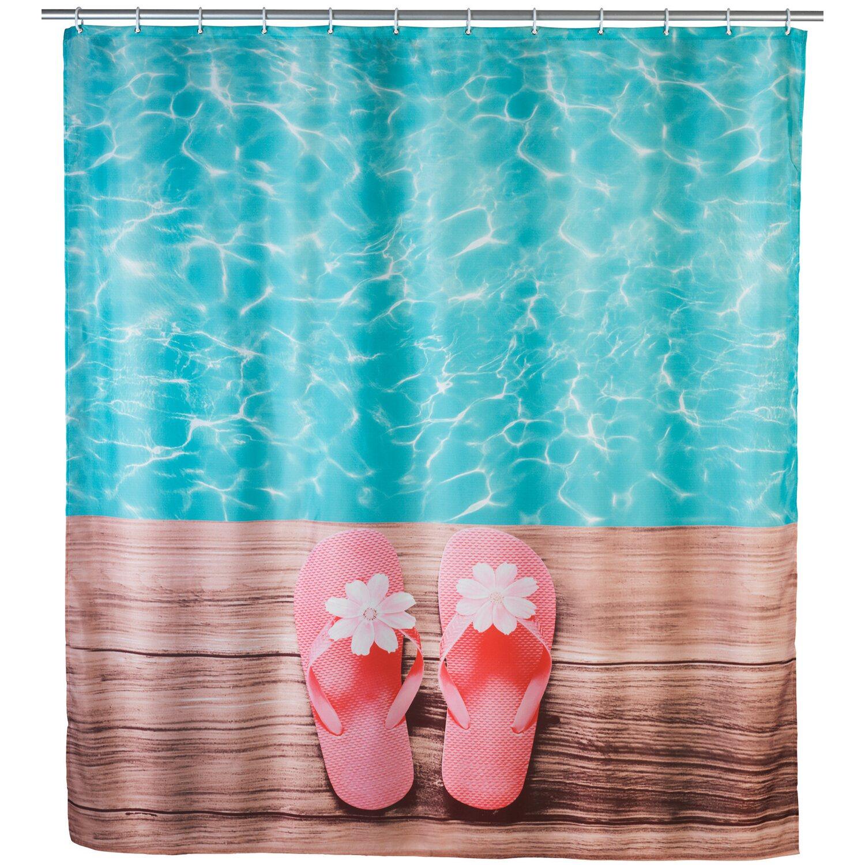 wenko duschvorhang hawaii 180 cm x 200 cm kaufen bei obi. Black Bedroom Furniture Sets. Home Design Ideas