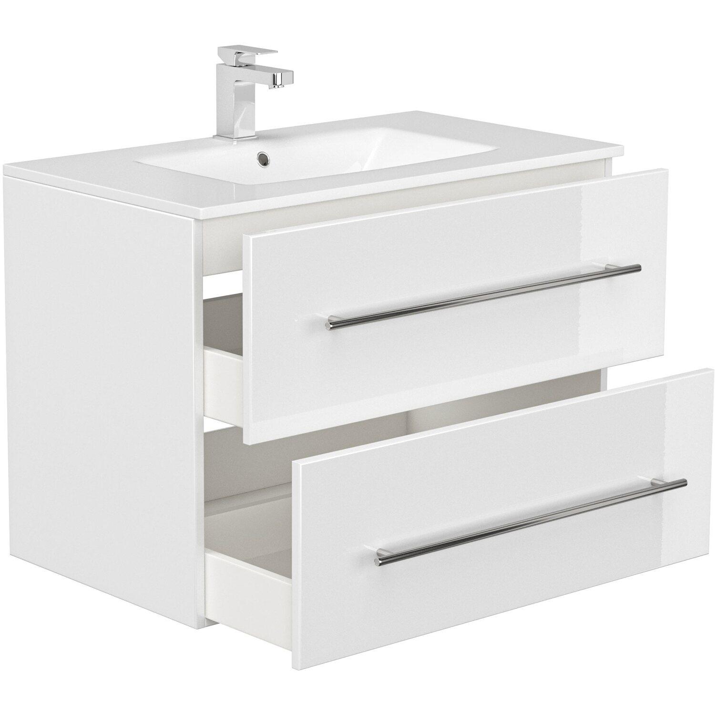 Posseik Waschplatz 8 cm Homeline Weiß Hochglanz