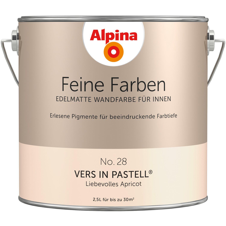 Alpina Feine Farben No 28 Liebevolles Apricot Edelmatt 2 5 L