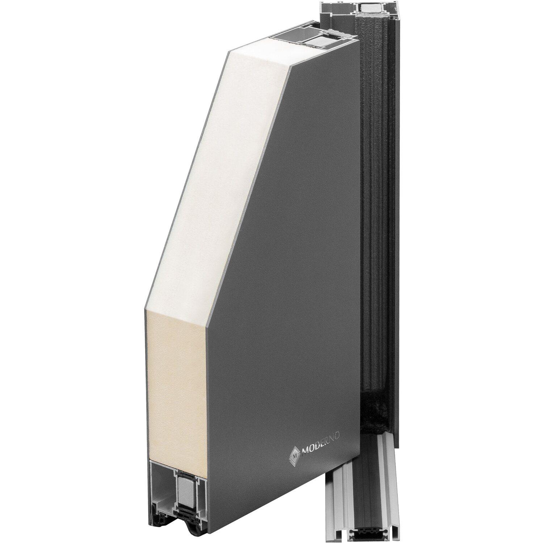 aluminium haust r moderno m370 p 110 x 210 cm wei anschlag links kaufen bei obi. Black Bedroom Furniture Sets. Home Design Ideas