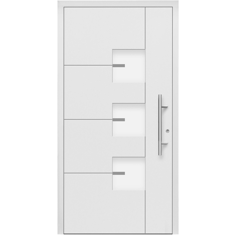 Aluminium-Haustür Moderno M330/B 110 x 210 cm Weiß Anschlag Rechts | Baumarkt > Modernisieren und Baün | Splendoor Moderno