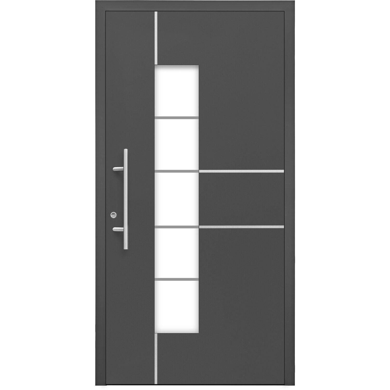 Aluminium-Haustür Moderno M360/B 110 x 210 cm Anthrazit Metallic Anschlag  Links