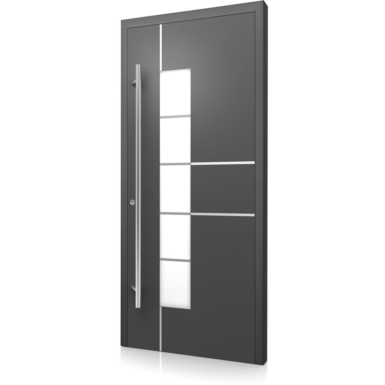 Aluminium-Haustür Moderno M360/B 110 x 210 cm Anthrazit Metallic ...