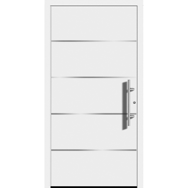 Aluminium-Haustür Moderno M480/B 110 x 210 cm Weiß Anschlag Rechts | Baumarkt > Modernisieren und Baün > Türen | Weiß | Aluminium - Edelstahl | Splendoor Moderno
