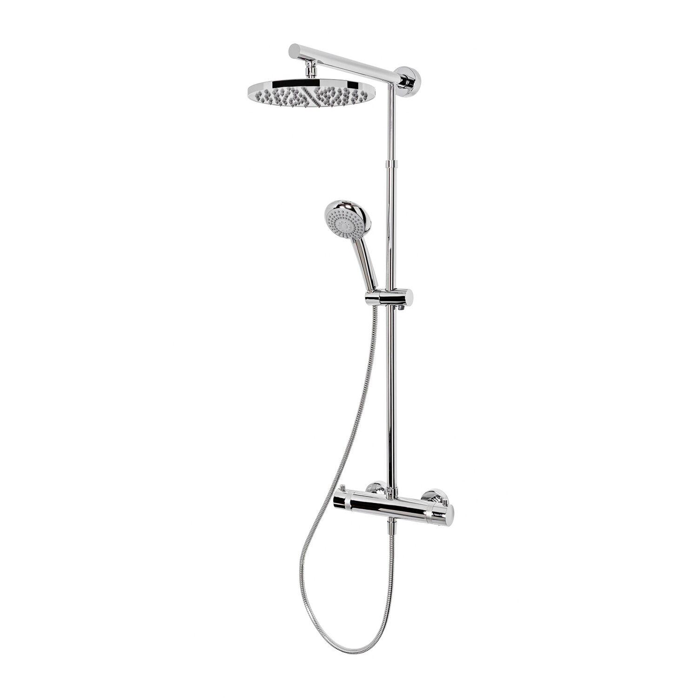 Schulte Kopfdusche DuschMaster Rain mit Thermostat Verchromt Duschkopf Rund | Bad > Duschen > Duschköpfe | Schulte