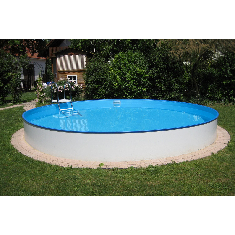 Summer Fun Stahlwand Pool-Set Einbau-und Aufstellbecken Ø 420 cm x 120 cm