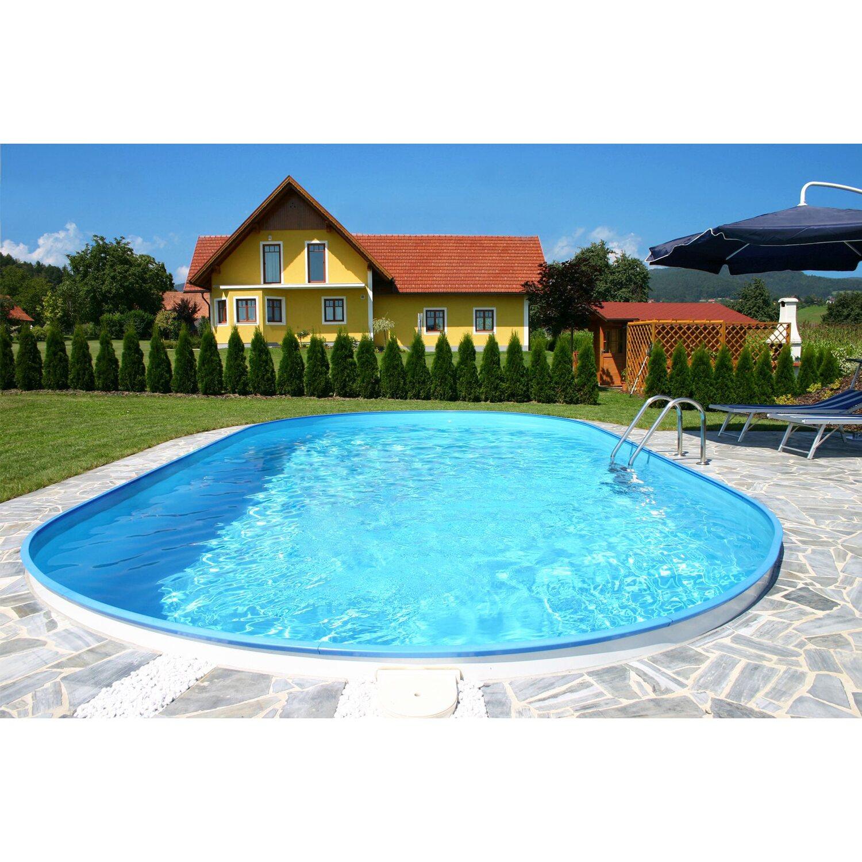Stahlwand pool set fidschi einbaubecken ovalform 600 cm x for Pool von obi