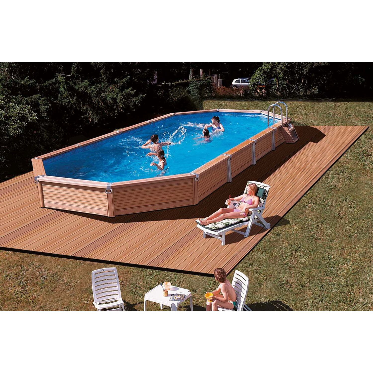 summer fun pool set azteck einbaubecken ovalform 560 cm x 400 cm x 165 cm kaufen bei obi. Black Bedroom Furniture Sets. Home Design Ideas