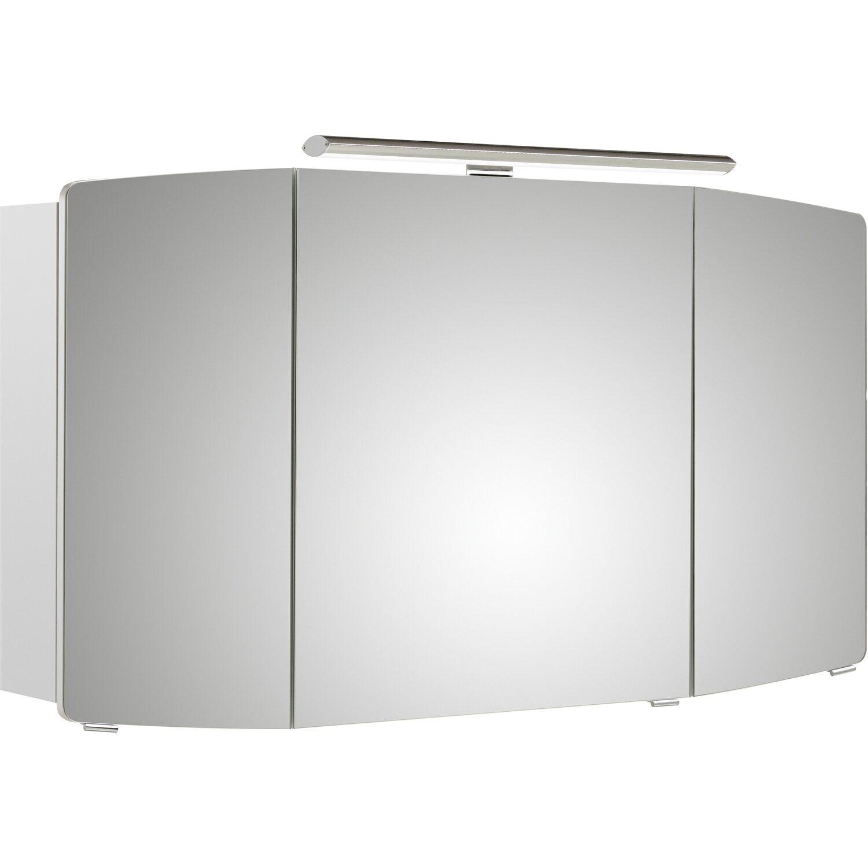 Pelipal Spiegelschrank 120 cm Quantum 1 Weiß Hochglanz EEK: A-A++