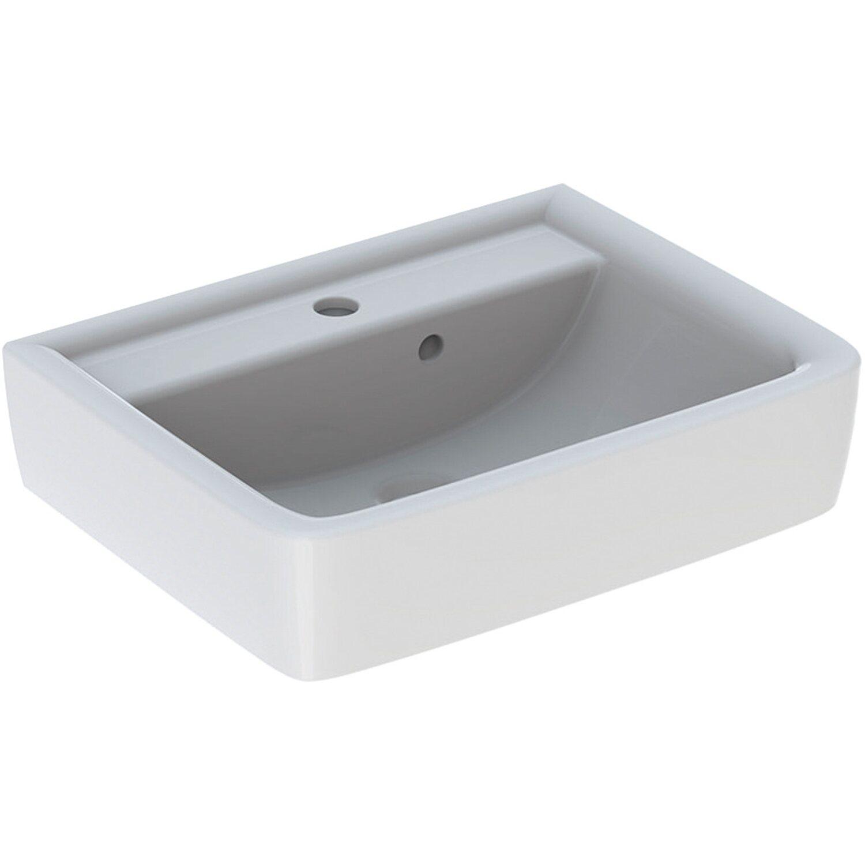 Geberit Aufsatzwaschbecken Renova Plan 50 cm Weiß