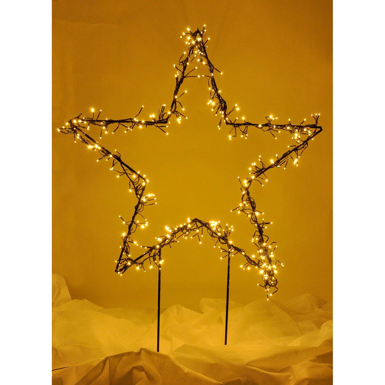 Takasho deko silhouette stern s 288 led warmwei kaufen for Obi weihnachtsbeleuchtung