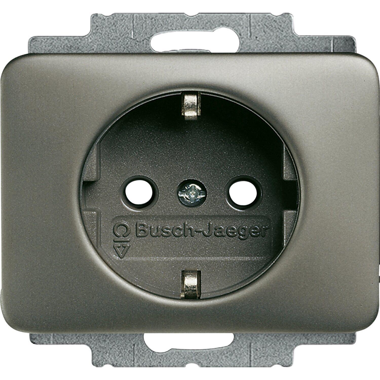 Relativ Busch-Jaeger Steckdoseneinsatz Alpha Nea Platin kaufen bei OBI HT72