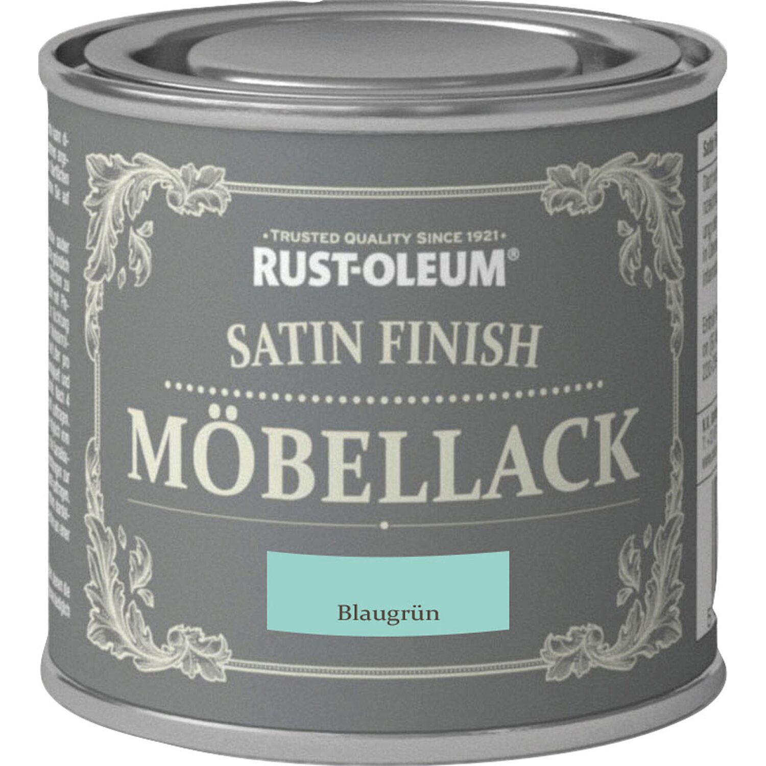 rust oleum kreidefarbe m bellack satin finish blaugr n seidengl nzend 125 ml kaufen bei obi. Black Bedroom Furniture Sets. Home Design Ideas