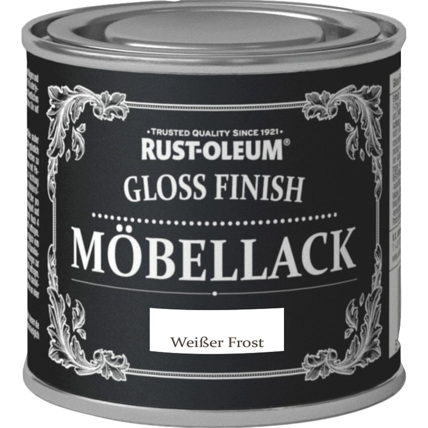 rust oleum kreidefarbe m bellack gloss finish wei er frost hochgl nzend 125 ml kaufen bei obi. Black Bedroom Furniture Sets. Home Design Ideas