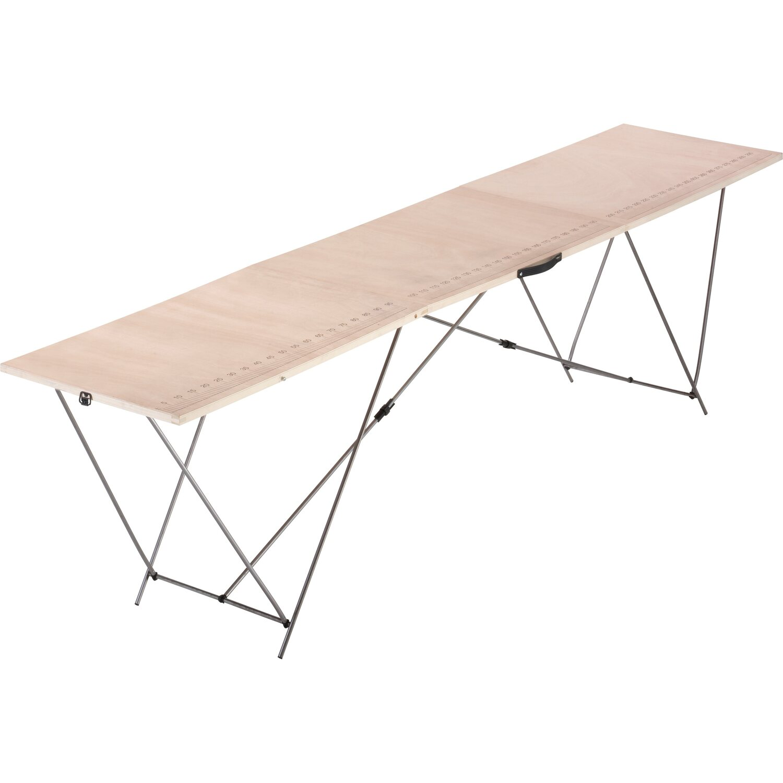 LUX Holz-Tapeziertisch mit Stahl-Gestell | Baumarkt > Malern und Tapezieren > Tapeziertische | Beige | LUX-TOOLS