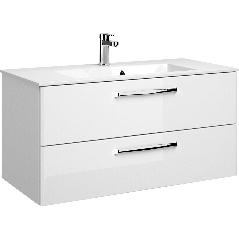 Pelipal Waschbeckenunterschrank 105 Cm Trentino Weiss Hochglanz
