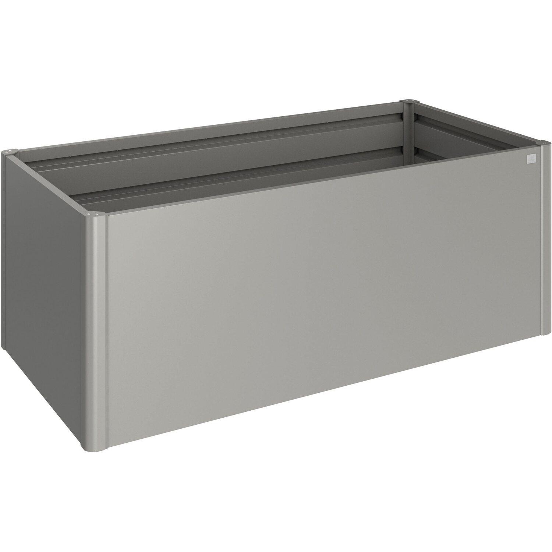 biohort metall hochbeet 2 x 1 quarzgrau metallic 201 cm x 102 cm x 77 cm kaufen bei obi. Black Bedroom Furniture Sets. Home Design Ideas