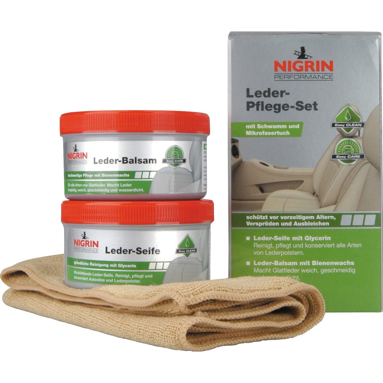 Nigrin Performance Leder-Pflege-Set Seife und Balsam kaufen bei OBI