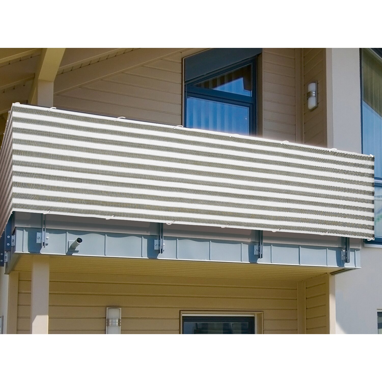 Balkonsichtschutz 90 cm Grau Weiß Meterware kaufen bei OBI