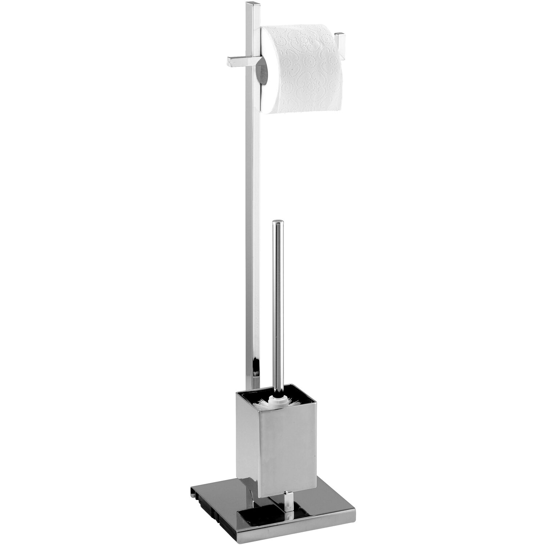 Wenko Stand WC-Garnitur Quadro Chrom