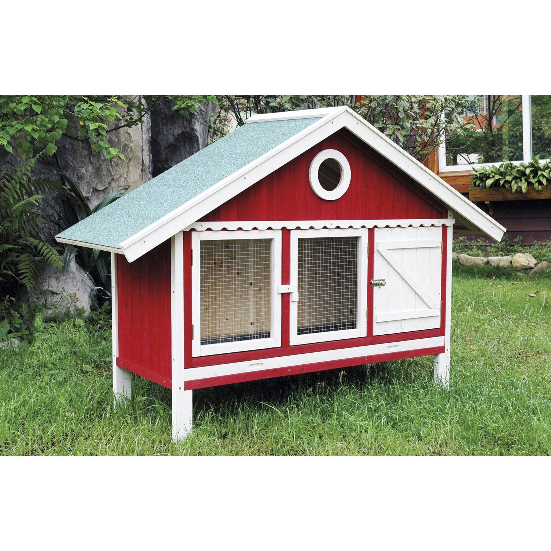 kleintierstall schwedenhaus rot wei kaufen bei obi. Black Bedroom Furniture Sets. Home Design Ideas