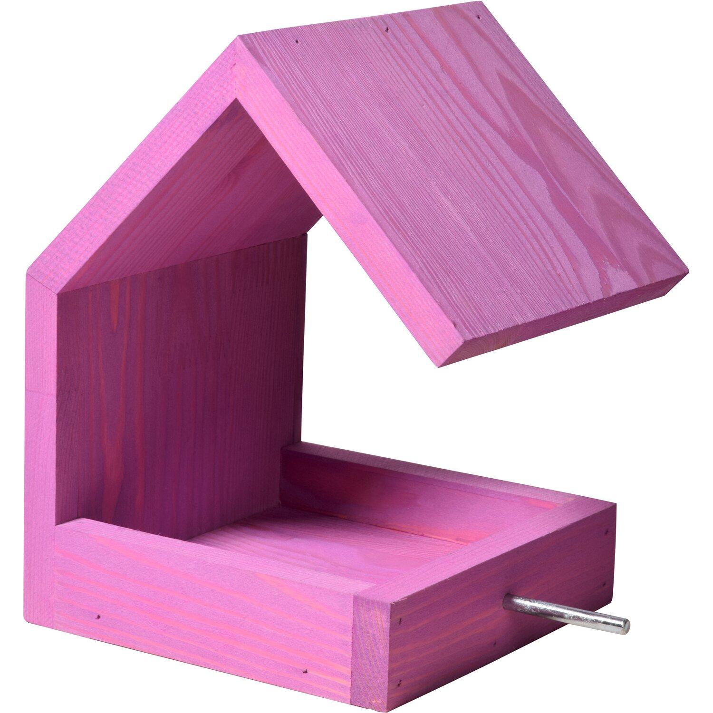 dobar design vogelfutterhaus mit satteldach violett kaufen bei obi. Black Bedroom Furniture Sets. Home Design Ideas