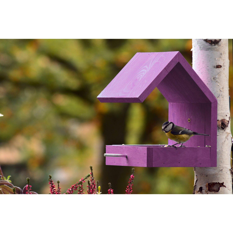 dobar design vogelfutterhaus mit satteldach violett kaufen. Black Bedroom Furniture Sets. Home Design Ideas