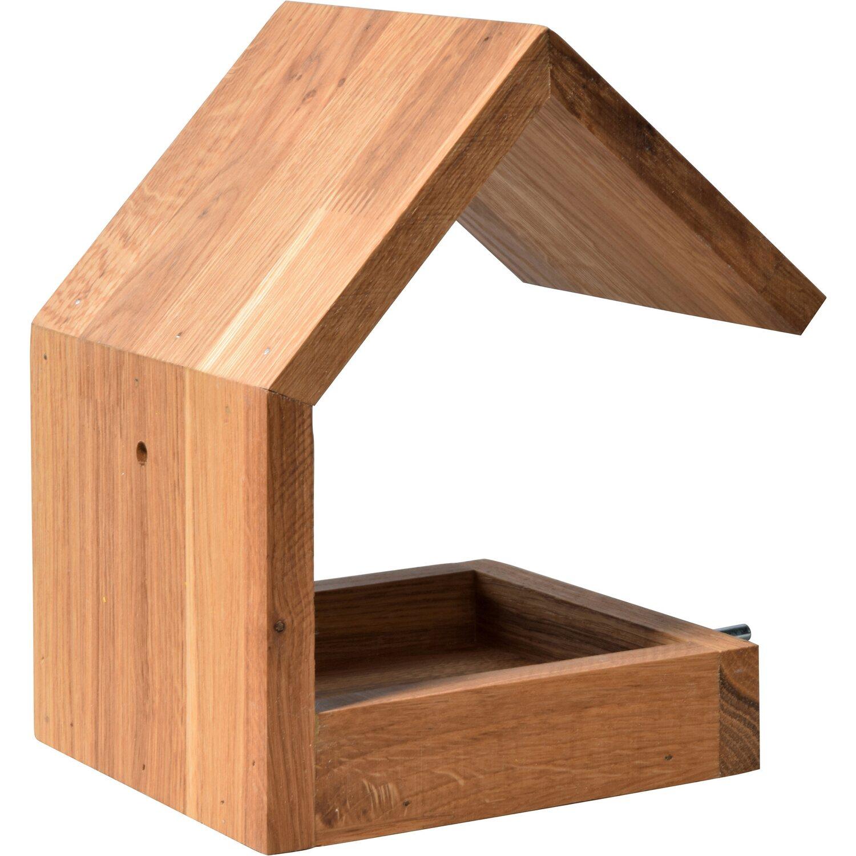 dobar design vogelhaus eichenholz mit satteldach braun. Black Bedroom Furniture Sets. Home Design Ideas