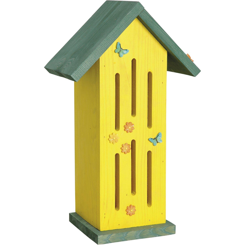 dobar schmetterlingshaus sonnenfalter mit t r gelb kaufen bei obi. Black Bedroom Furniture Sets. Home Design Ideas