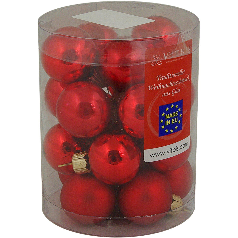 Vitbis glasweihnachtskugeln mix 3 cm 20 st ck rot kaufen bei obi - Obi weihnachtskugeln ...