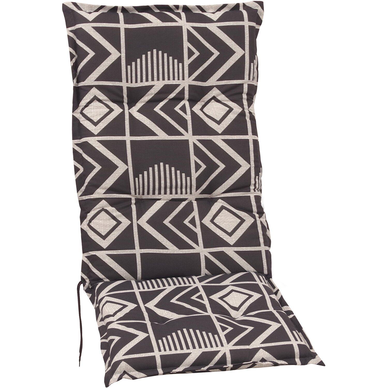 hochlehner auflage langeoog grafik grau kaufen bei obi. Black Bedroom Furniture Sets. Home Design Ideas