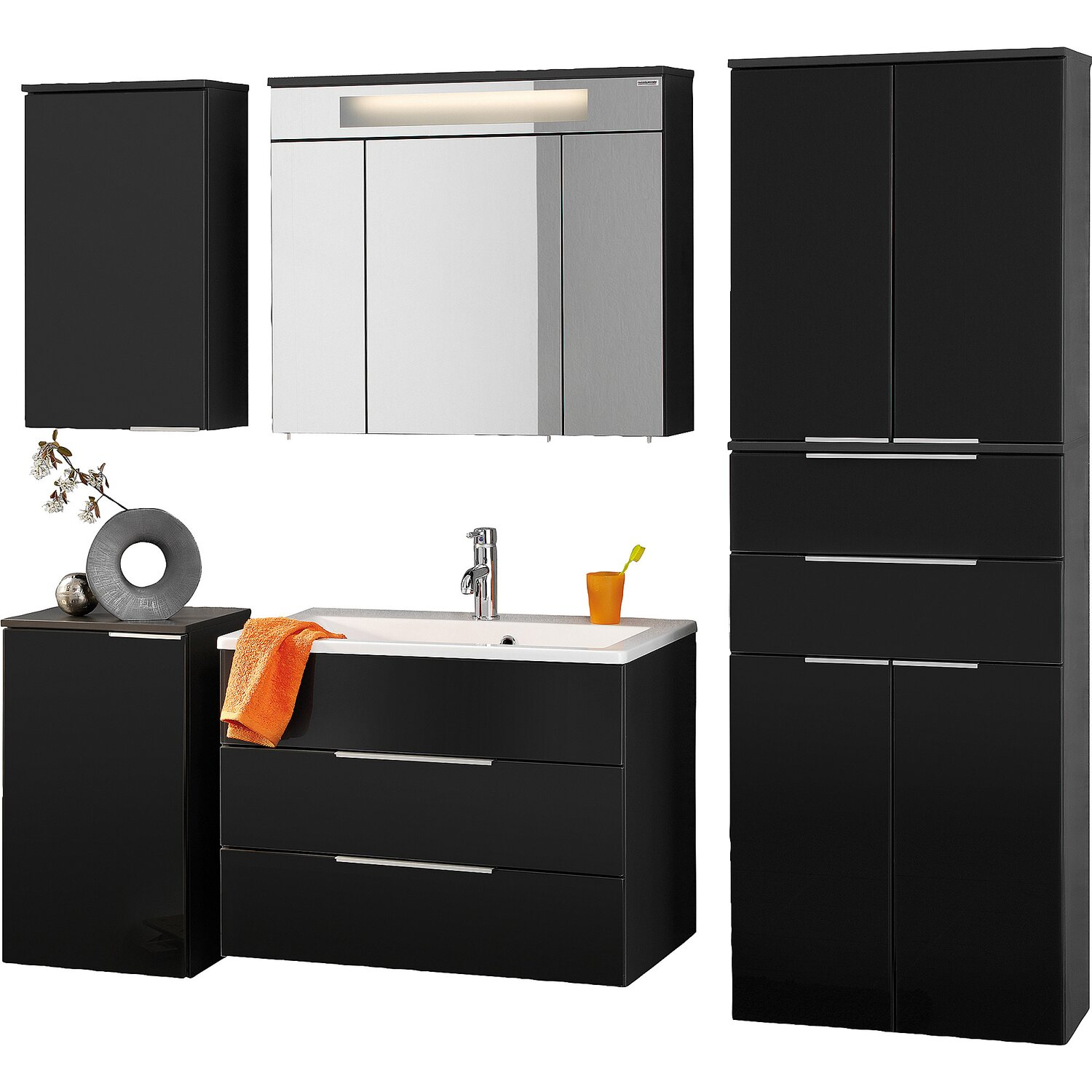 fackelmann badm bel set eek a kara anthrazit 6 teilig kaufen bei obi. Black Bedroom Furniture Sets. Home Design Ideas