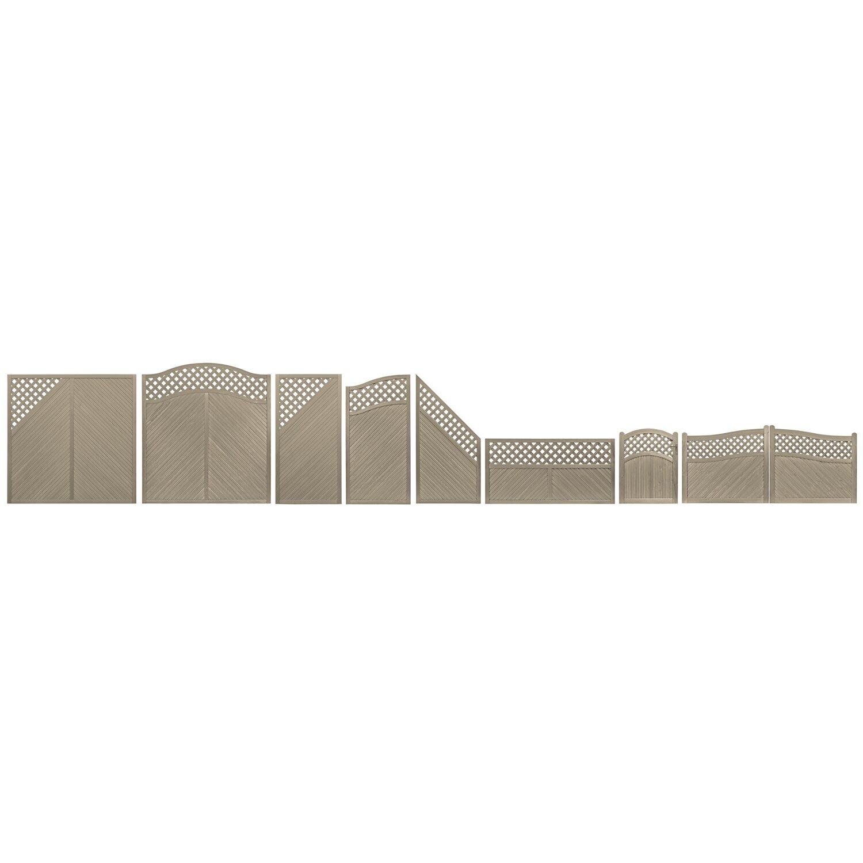 Sichtschutzzaun Element Brest Grau 180 Cm X 90 Cm Kaufen Bei Obi