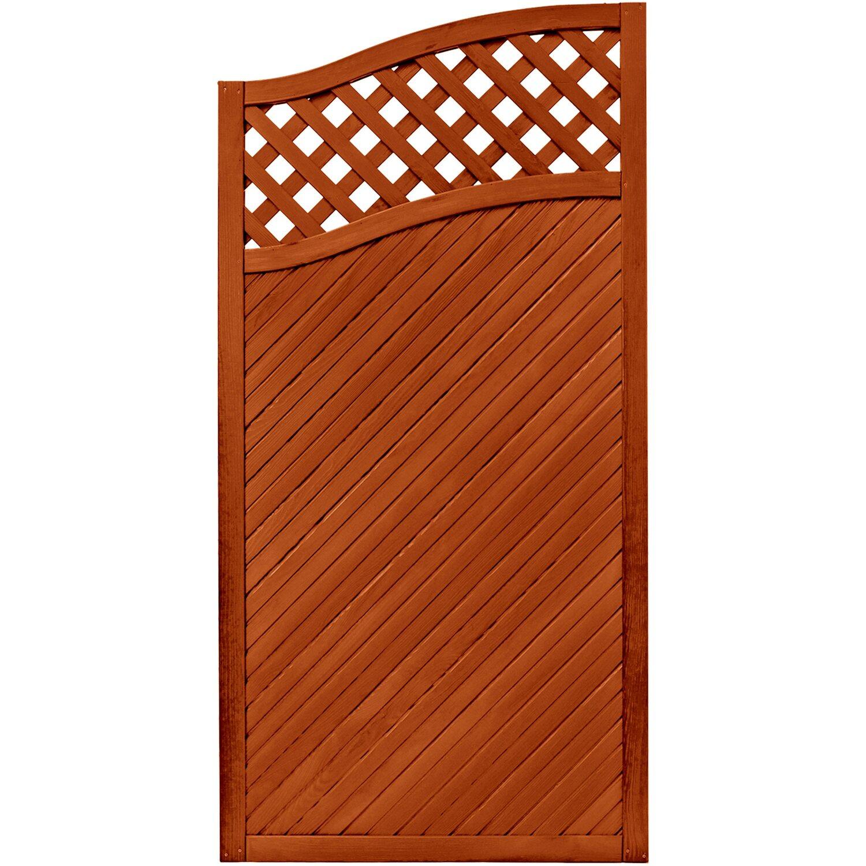 sichtschutzzaun element brest teakfarben 180 164 cm x 90 cm kaufen bei obi. Black Bedroom Furniture Sets. Home Design Ideas
