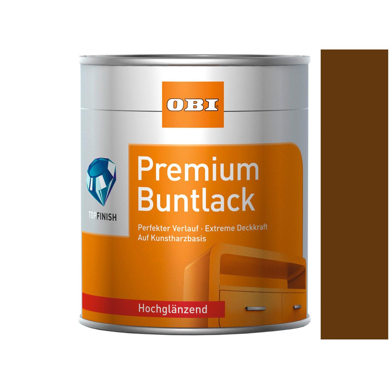 OBI  Premium Buntlack Nussbraun hochglänzend 750 ml