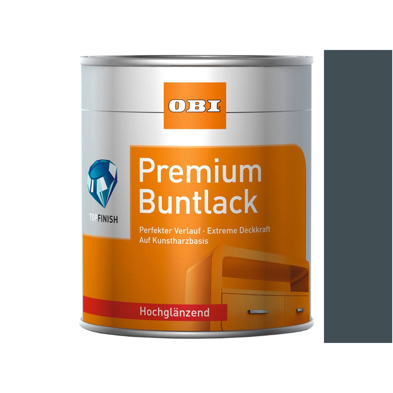 OBI  Premium Buntlack Anthrazit hochglänzend 375 ml